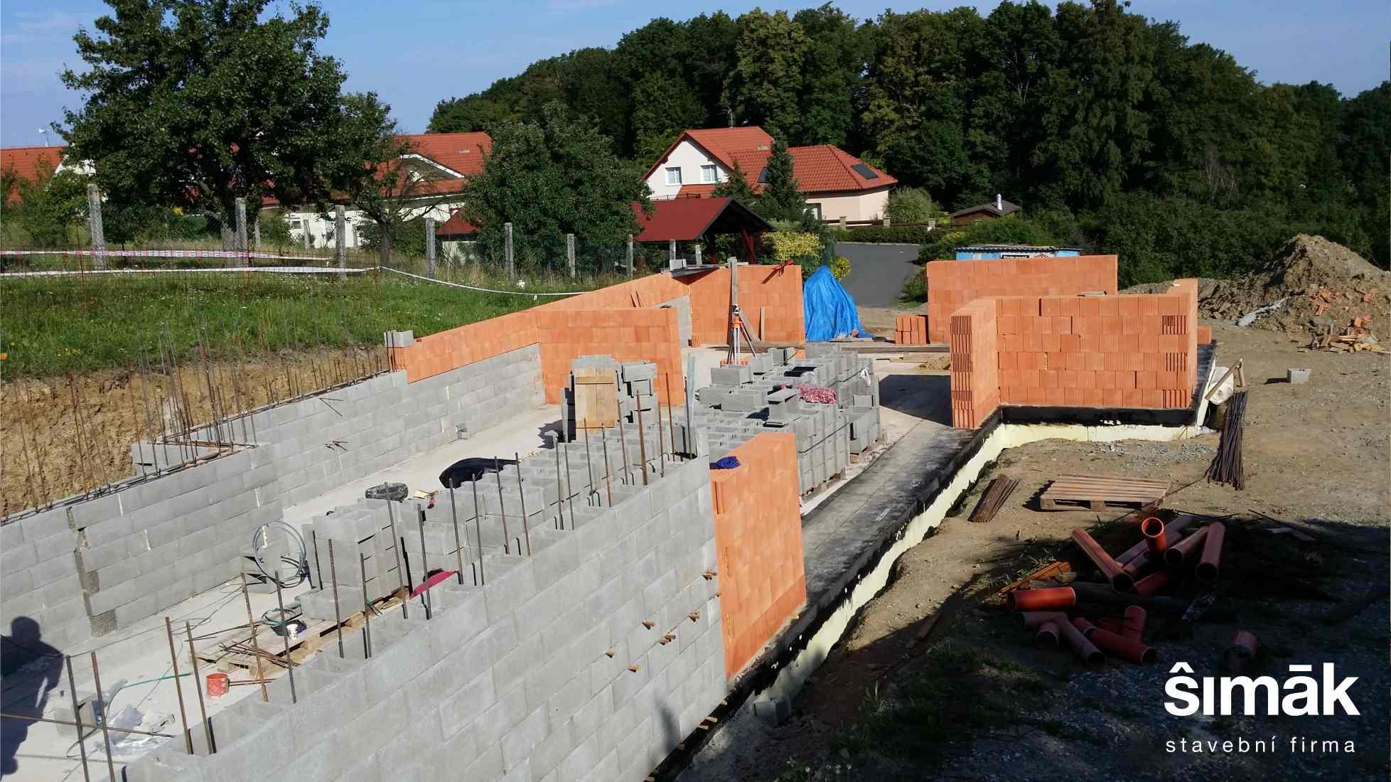Stavba RD ve Zlíně na Kudlově v realizaci stavební firmy Šimák